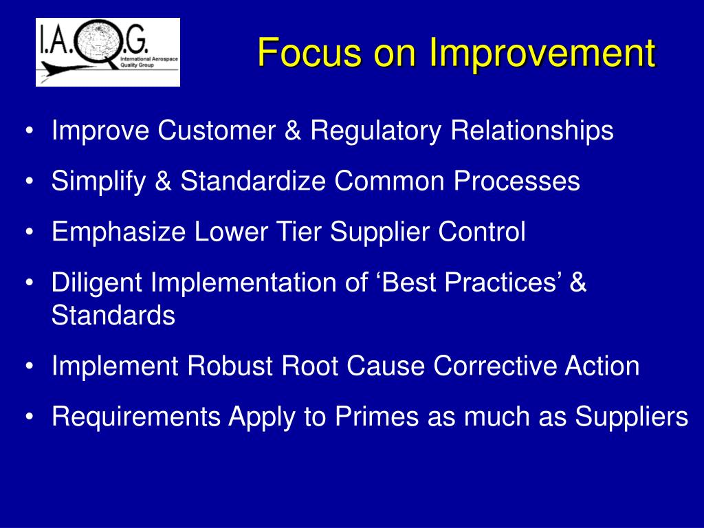 Focus on Improvement