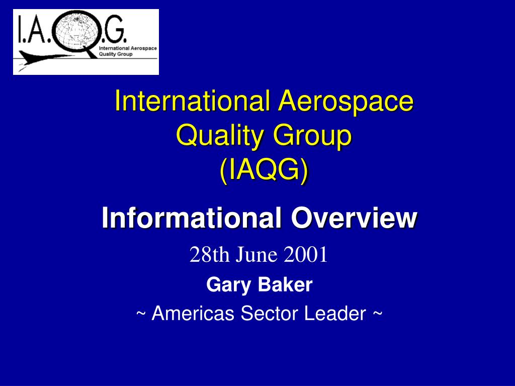 international aerospace quality group iaqg l.