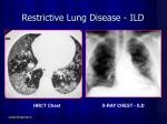 restrictive lung disease ild52