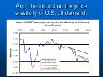 and the impact on the price elasticity of u s oil demand