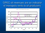 opec oil revenues are an indicator of monopoly rents to oil producers