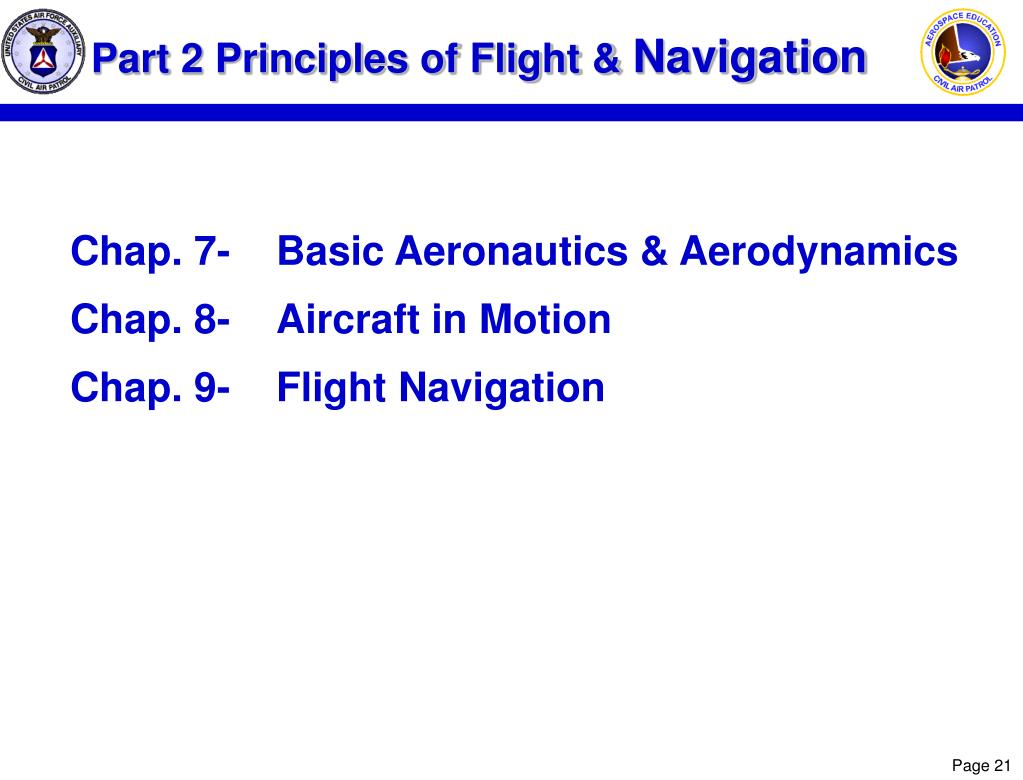 Part 2 Principles of Flight &