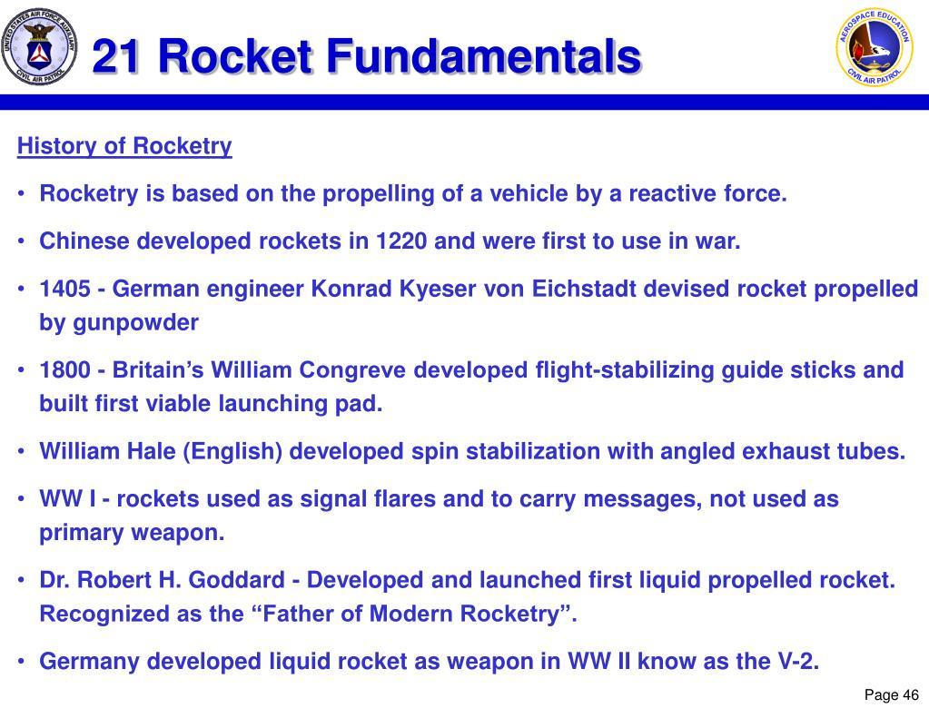 21 Rocket Fundamentals