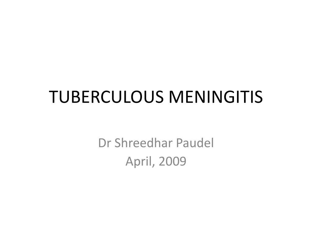 tuberculous meningitis l.