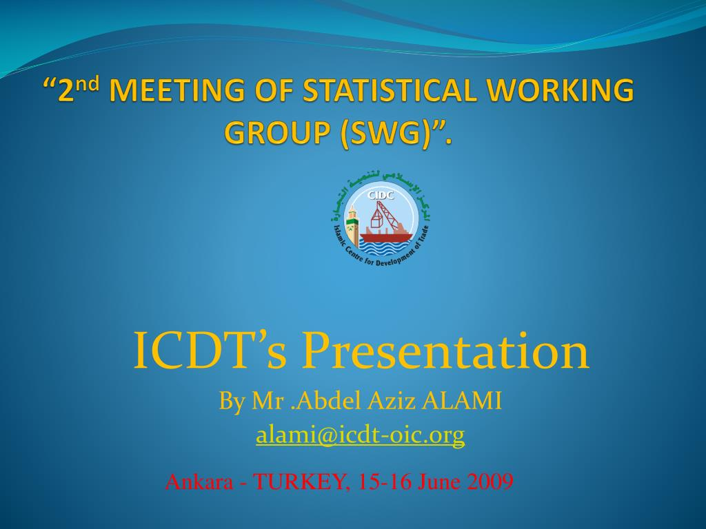 2 nd meeting of statistical working group swg l.