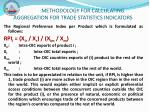 methodology for calculating aggregation for trade statistics indicators