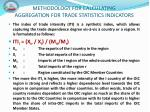 methodology for calculating aggregation for trade statistics indicators8