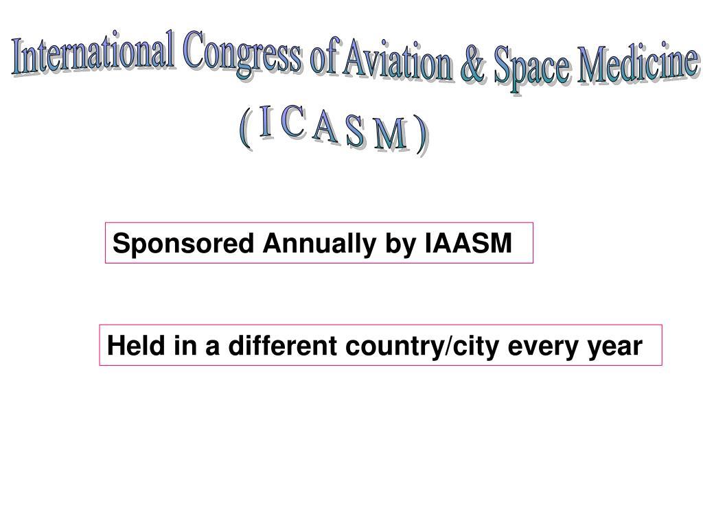 International Congress of Aviation & Space Medicine