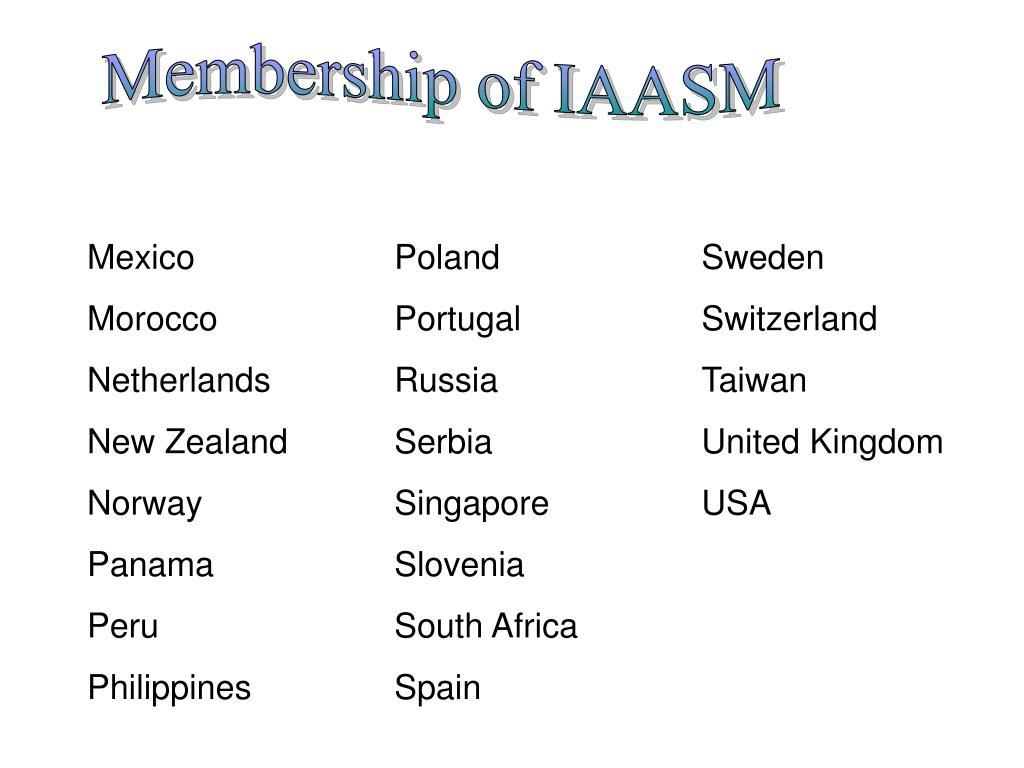 Membership of IAASM