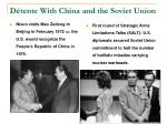 d tente with china and the soviet union