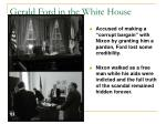 gerald ford in the white house