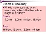 example accuracy