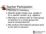 teacher participation