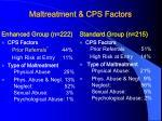 maltreatment cps factors