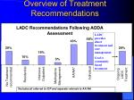 overview of treatment recommendations