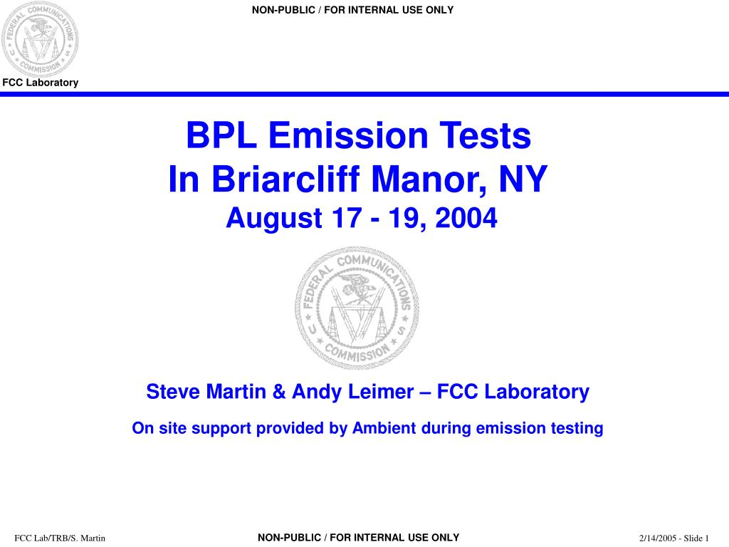 bpl emission tests in briarcliff manor ny august 17 19 2004 l.
