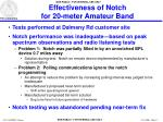 effectiveness of notch for 20 meter amateur band