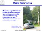 mobile radio testing