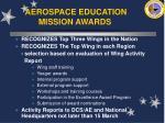 aerospace education mission awards