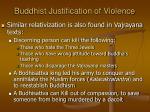 buddhist justification of violence