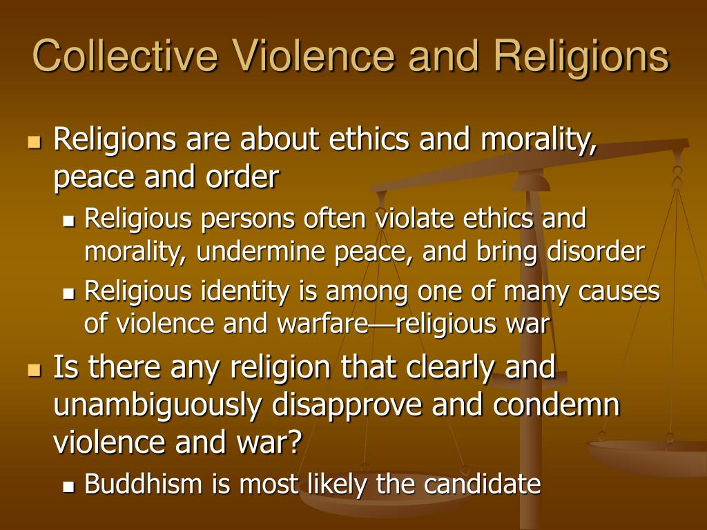 collective violence and religions l.