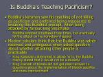 is buddha s teaching pacificism