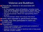 violence and buddhism
