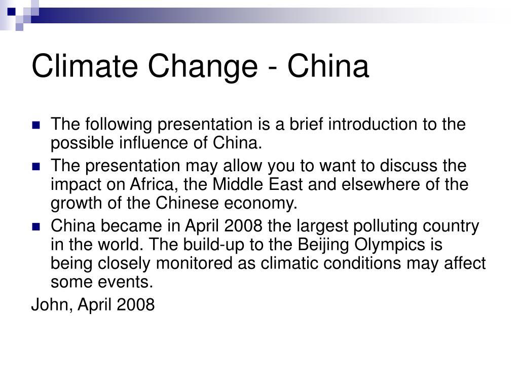 climate change china l.