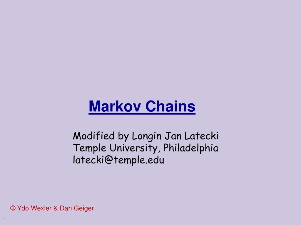 markov chains l.