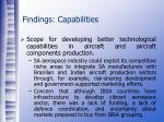 findings capabilities