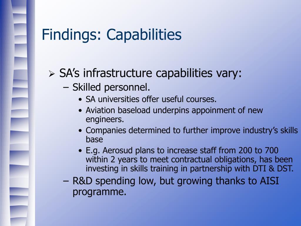 Findings: Capabilities