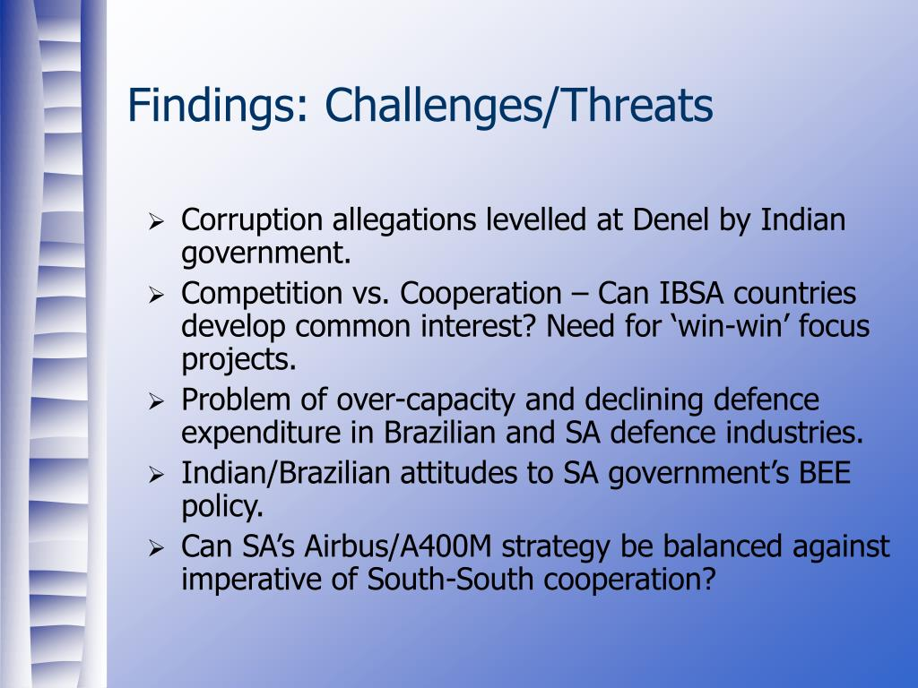Findings: Challenges/Threats