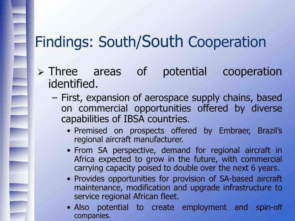 Findings: South/