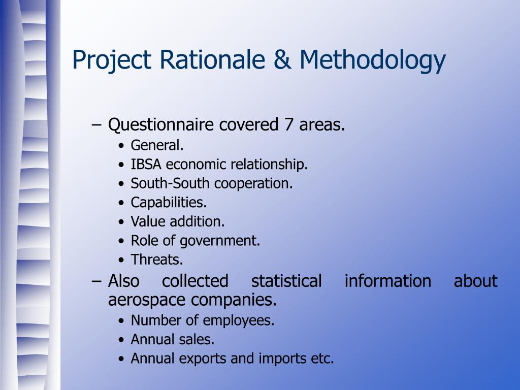 Project Rationale & Methodology