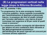 b le progressioni verticali nella legge dopo la riforma brunetta