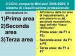 il ccnl comparto ministeri 2006 2009 il sistema di classificazione professionale