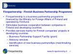 finnpartnership finnish business partnership programme