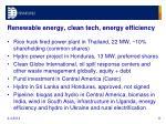 renewable energy clean tech energy efficiency