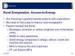 rural energisation access to energy