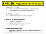 english programme for the session