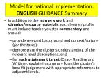 model for national implementation english guidance summary