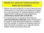 model for national implementation english guidance