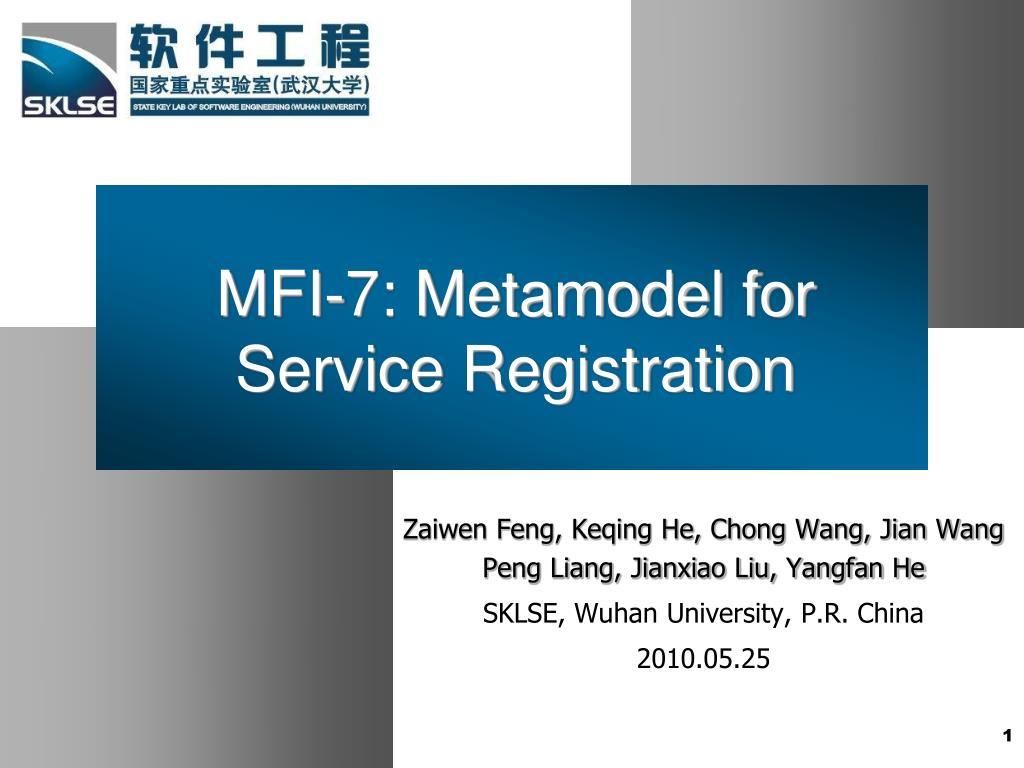 mfi 7 metamodel for service registration l.