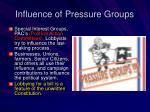 influence of pressure groups