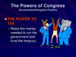 the powers of congress enumerated delegated powers