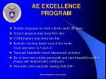 ae excellence program