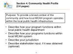 section 4 community health profile 2 6 pages