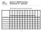 section 7 mcah priorities worksheet c1 optional