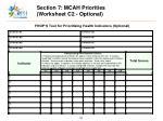 section 7 mcah priorities worksheet c2 optional