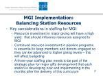mgi implementation balancing station resources23